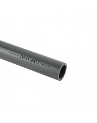Grau PVC-U Rohr 25mm