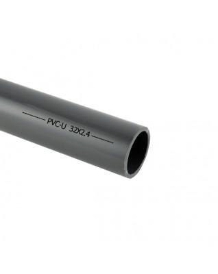Grau PVC-U Rohr 32mm