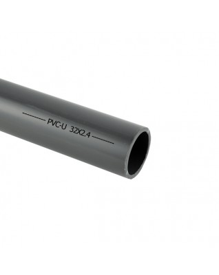 Tube PVC-U gris 32mm
